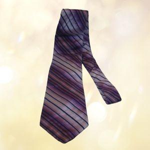 Joseph & Feiss International 100% Silk Purple Tie